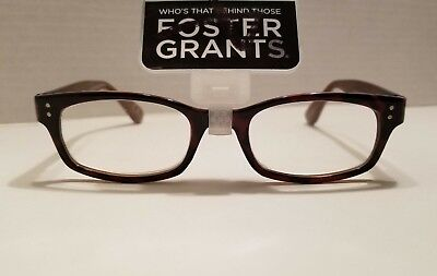 New!! Foster Grant Brown Women's Reading Glasses +2.50  (Channing)