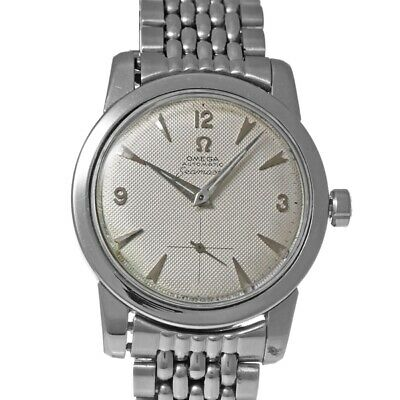 Omega Seamaster C2576-6 1950's Vintage Silver Dial 35mm SS Automatic Men's Watch