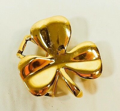 DOTTY SMITH Cleaver Lucky Charm GOLD TONE METAL BELT BUCKLE SIGNED by DESIGNER