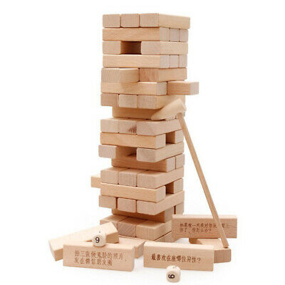 1X Giant Mega Tumble Tower Wooden Blocks Building Garden Game Lawn Outdoor UK