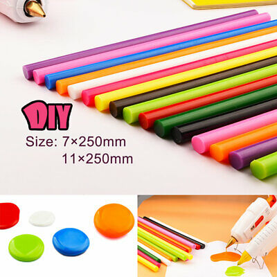 7/11mm Muti Color Hot Melt Glue Stick 250mm Extra Long Adhesive For Electric Gun