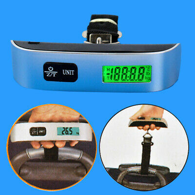 LCD Digital Portable Hook Hanging Weight 110lb/50kg Travel Luggage Scale
