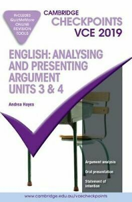 NEW Cambridge Checkpoints VCE English: Analysing and Presenting Arguments Units