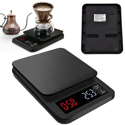 5kg/0.1g Kitchen Digital Scale LCD Electronic Food Weight Postal Scales Timer AU