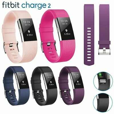 For Fitbit Charge 2 Strap Sports Wrist Band Silicone Replacement Small