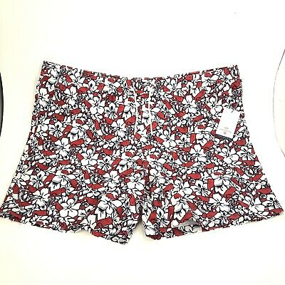 9b22cac682 Vineyard Vines for Target Mens Size 3XL Hibiscus Whale Swim Trunks Red Navy  NWT