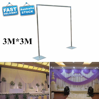 3M*3M Wedding Drapery Pipe Stand/Wedding Decor Drape Stand+Curtain w/ Swag AU