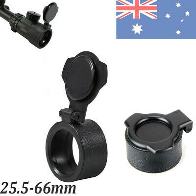 New Riflescope Quick Flip Spring Up Open Lens Cover Hunitng Cap 25.5-66mm AU