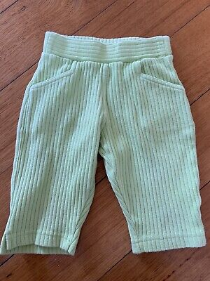 Vintage Style Pumpkin Patch Green Corduroy Pants Size 3