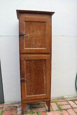 Vintage meat safe kitchen cupboard food store cabinet, Early 1900