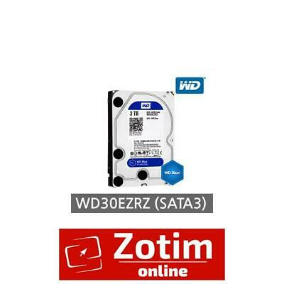 "WD 3TB, WD30EZRZ, Blue  3.5"" Internal Desktop Sata Drive, SATA 6Gb/s, 5400 RPM"