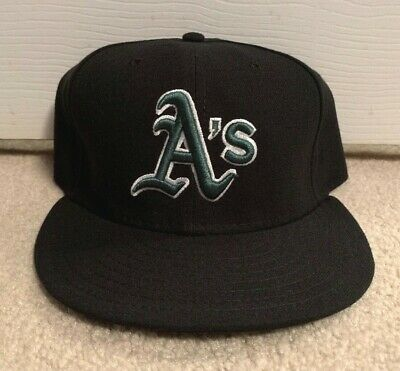 new concept 79494 06b41 Oakland Athletics A s Vintage New Era Fitted Hat 7 5 8 Mlb Official On Field