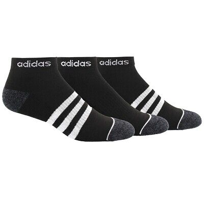 ADIDAS CLIMALITE Low-Cut 3 Pack Socks Men's Size M 6-12 Black NEW 5145829A