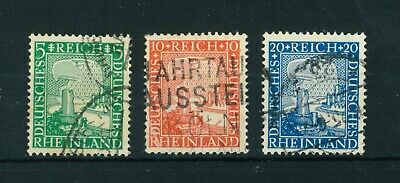Germany 1925 Rhineland Millenary full set of stamps. Used. Sg 384-386.