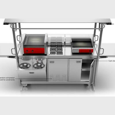 Coffee or Food Cart - Stainless Steel