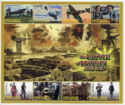 Grenadines Grenada 2000 MNH WWII WW2 Battle of Britain 8v M/S II Aviation Stamps