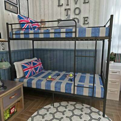 New 3FT Single Metal Bunk Bed Frame for Twins Kids Adults Bedroom