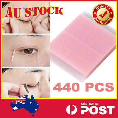 44Pcs Double Eyelid Adhesive Sticker Tape Invisible Fiber Waterproof Eye Tapes
