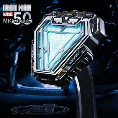 Marvel The Avengers Iron Man MK50 Tony Stark Armor Arc Reactor Light Wearable