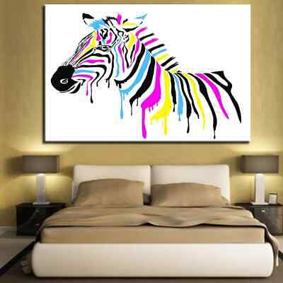 Canvas Painting Wall Art Poster Prints 1 Pieces Modern Zebra