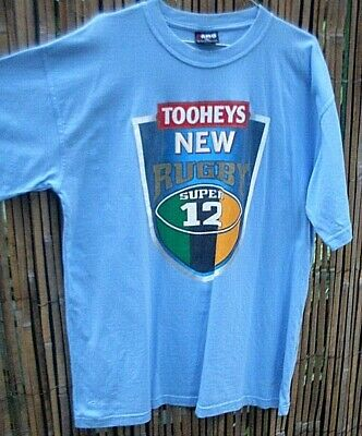 TOOHEY'S NEW (XL) RUGBY SUPER 12 Blue Men's Cotton Short Sleeved T-Shirt - in AU