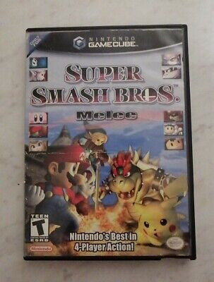 Super Smash Bros. Melee (Nintendo GameCube, 2001) - No Manual, Working