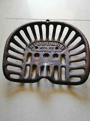 Collectable Cast Iron Stoddart Tractor Seat ..