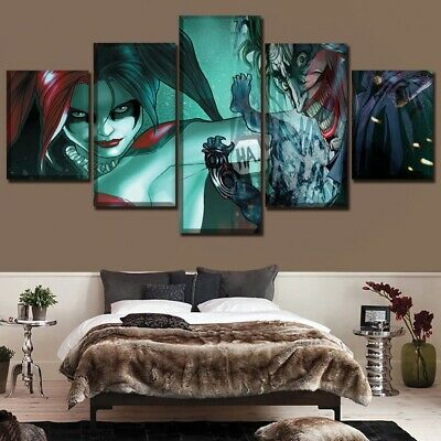 Harley Quinn Joker Suicide Squad 3d Smashed Wall View Sticker Poster Vinyl Z539