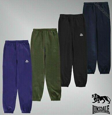 Boys Lonsdale Piped Stitching Closed Hem Fleece Sweat Pant Sizes from 7 to 13