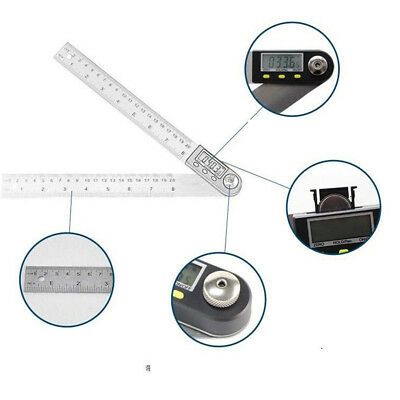 200mm/360° Stainless Steel LCD Digital Protractor Angle Finder Ruler