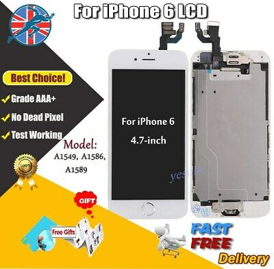 """For iPhone 6 White 4.7"""" Screen Replacement Digitizer LCD with Home Button Camera"""