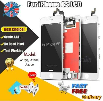 """White For iPhone 6S 4.7"""" Screen LCD Replacement Display Touch Digitizer Assembly"""