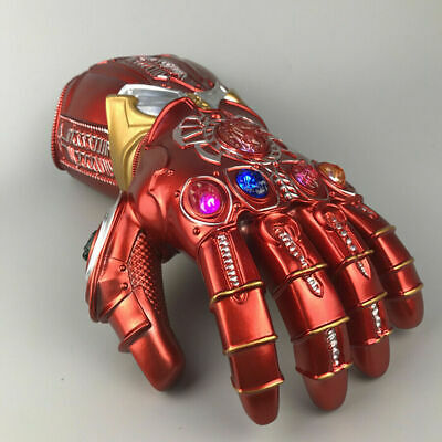 Thanos Infinity Gauntlet LED Light Gloves Cosplay Avengers Infinity War Prop RED