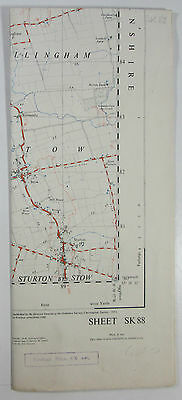 1960 Vintage OS Ordnance Survey 1:25000 First Series map SK 88 Gainsborough (S)