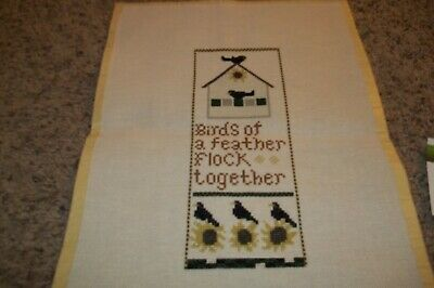 FANCI THAT BIRDS OF A FEATHER Finished Cross Stitch