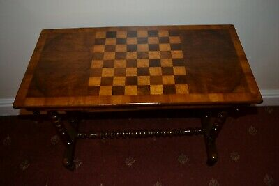 Early Victorian Walnut Chess Board Side / Hall / window Table C1840-50