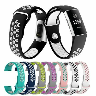 Two-tone Silicone Wrist Strap Watch Band For Fitbit Charge 3 Replacement Belt