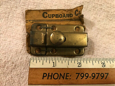 New Old Stock Brass Wash Cupboard Door Latch & Catch, Free S/H