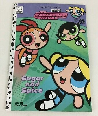 Powerpuff Girls Sugar And Spice Coloring Book Cartoon Network Dalmatian 2003 New