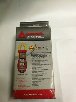 AMPROBE ACD-14 TRMS Digital Clamp On Multimeter,600A, 40 MOhms NEW