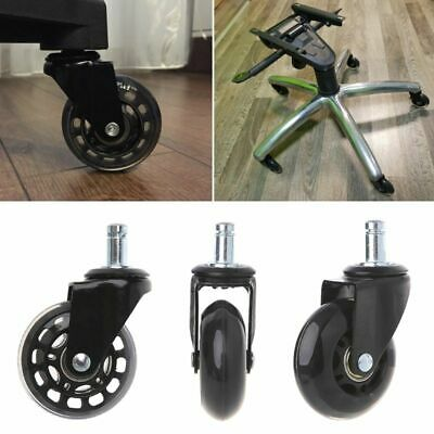 """5 Pcs Office Chair Caster 2.5"""" Swivel Rubber Caster Wheels Replacement Rollers"""