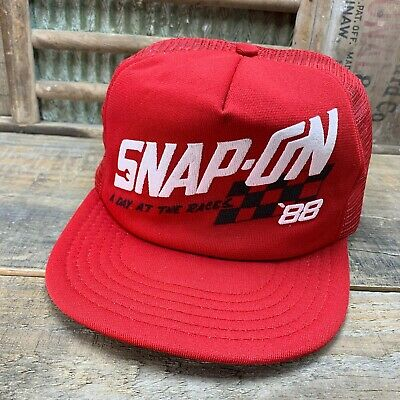 Vintage SNAP-ON '88 RACING Mesh SnapBack Trucker Hat Cap Made In USA 1988