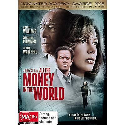 All the Money in the World DVD 2018 MA 15 + / Buy 1 DVD get 2nd DVD at half pric