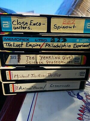 lot 5 used beta CASSETTE TAPES L-750 ASSORTED manufacturers& PROGRAMS UNTESTED A