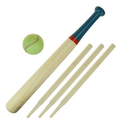 6pc Deluxe Rounders Set With Carry Bag Ball Sports Kids Wooden Bat Outdoor