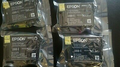 Genuine OEM EPSON 288 Ink Cartridges Set T288  for XP 440,340,330,446,434, 430