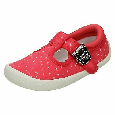 Clarks Infants Girls Pre Walkers Shoes T-Bar Pink Toddler Cruisers 2 & 2.5 F