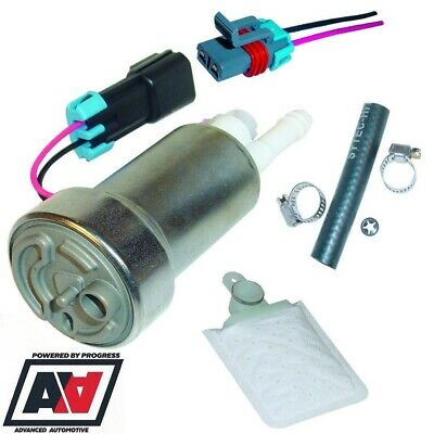 universal uprated fuel pump kit walbro 450lph eh85 flex fuel gst450k adv