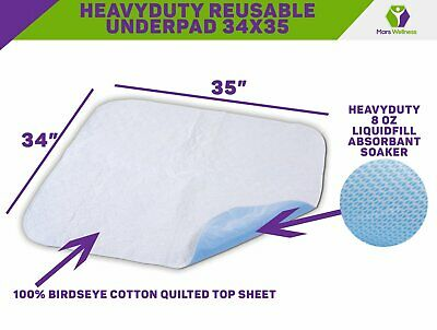 NEW Premium Incontinence Bed Pad - Reusable Underpad - 3 Pack