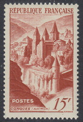 FRANCE - 1947 15f Brown-red. Conques Abbey - UM / MNH
